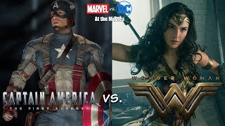 Wonder Woman vs. Captain America: The First Avenger - Marvel vs. DC At the Movie
