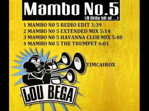 LOU BEGA MAXI CD COMPLETO   MAMBO N0 5  a little bit of