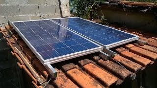 Ligar dois paineis solares fotovoltaicos em paralelo - connect two solar panels in parallel