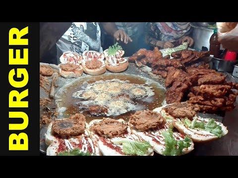 Chicken Burger & Tikka Burger at Dhaka Palli bidyut Eidgah moydan | Bangladeshi Street Food