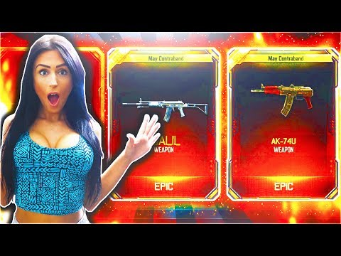 GIRLFRIEND UNLOCKS FREE SUPPLY DROP NEW DLC WEAPON! - NEW TRIPLE PLAY CONTRACT IN BLACK OPS 3!