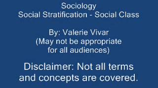SOC Social Stratification and Social Class by Valerie Vivar