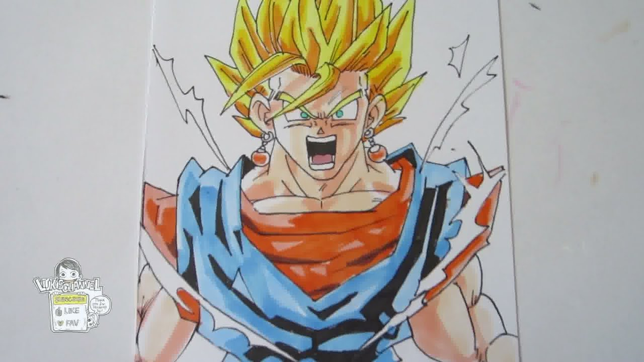 How To Draw Vegito From Dragon Ball Z 2 YouTube