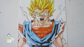 How to draw Vegito from Dragon Ball Z ベジット 超サイヤ人2