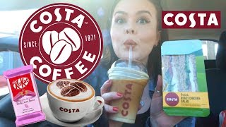 COSTA CAR MUKBANG! NEW RUBY KITKAT TASTE TEST UK
