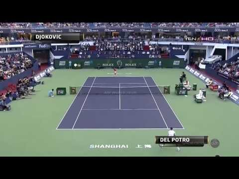 Djokovic vs. Del Potro Shanghai 2013 Final Highlights HD Best points from Djokovic