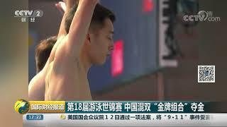 """[国际财经报道]第18届游泳世锦赛 中国混双""""金牌组合""""夺金  CCTV财经"""