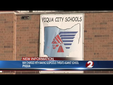 Man charged for alleged threats at Piqua Junior High School