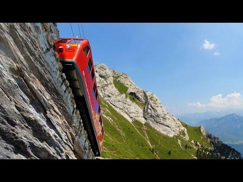 WORLD'S  STEEPEST  RAILWAY || Pilatus Railway Switzerland