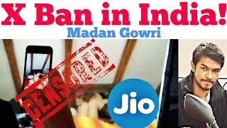 X Ban in India | Tamil | Madan Gowri | MG