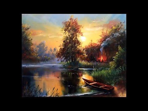 Видео уроки картины маслом пейзажи картины