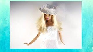 Свадебное платье для куклы Барби(Как сделать свадебный наряд для барби. Необходимые материалы белая ткань, атласная лента,гофрированная..., 2016-05-19T16:45:05.000Z)
