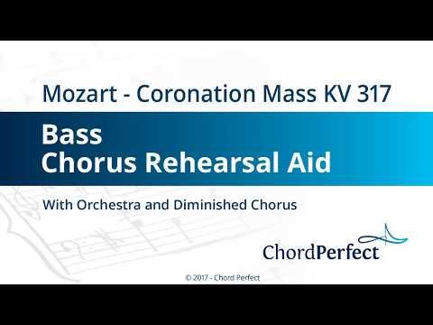 Mozart's Coronation Mass KV 317 - Bass Chorus Rehearsal Aid