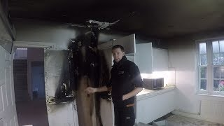 Kitchen fire - An Electricians Day in London