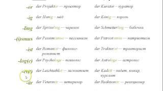 немецкий язык урок 1 ( der die das ) часть 2