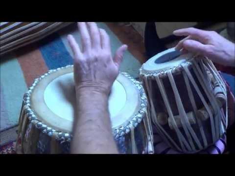 Lesson 1 tabla john Boswell - warming up and kayda