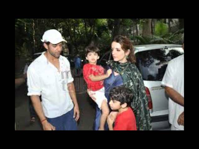 recently finalised the divorce Hrithik Roshan wife Sussanne in Mumbai