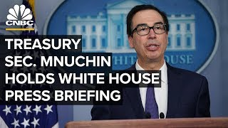 WATCH LIVE: Treasury Secretary Steven Mnuchin holds the White House press briefing – 10/11/2019