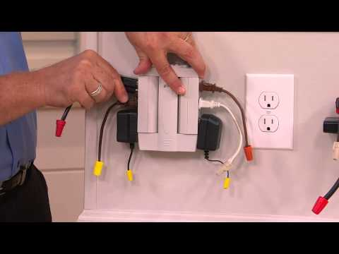 Set of 2 6 Outlet Surge Protection Swivel Outlets by Globe with Pat James-Dementri