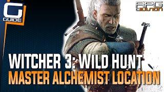 Witcher 3 - Master Alchemist Location (Sells all substance formulas like Nigredo, Albedo, Rebis...)