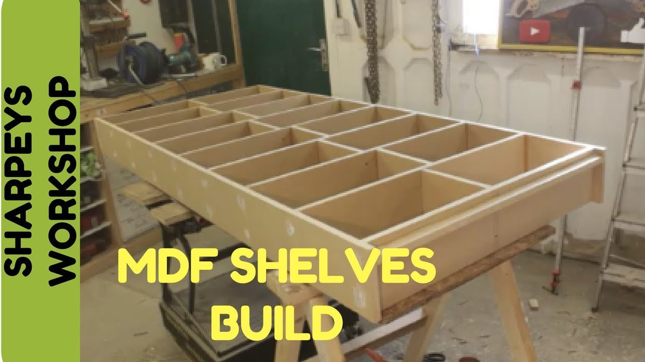 building a shelving unit with mdf youtube. Black Bedroom Furniture Sets. Home Design Ideas
