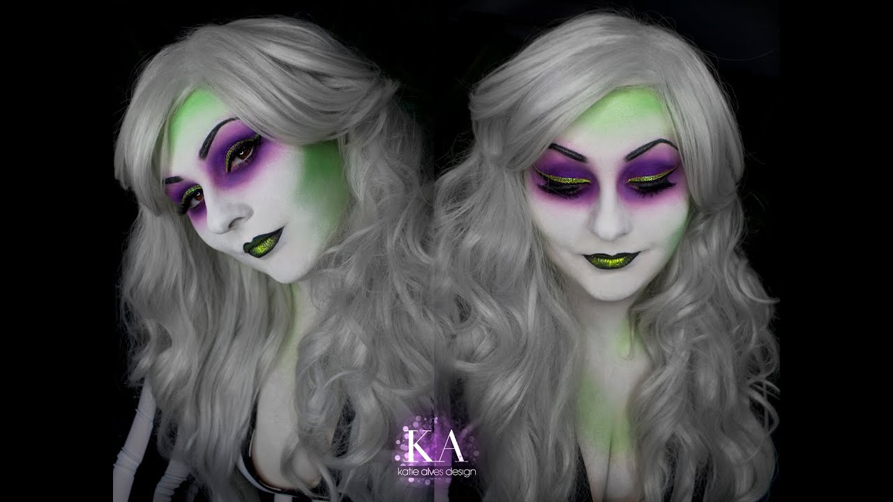 Lady Beetlejuice Halloween Makeup Tutorial - YouTube