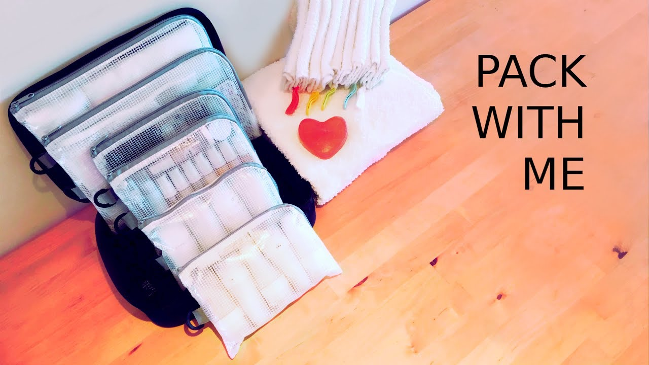 Whats In My Travel Toiletry Bag Tsa Bag Daiso Pouches Pack Light