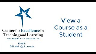 View D2L Courses as a Student