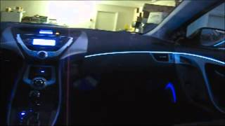 видео подсветка салона автомобиля