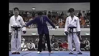 厳斗一VS黄秀一 第3回全日本テコンドー選手権大会 ライト級決勝戦