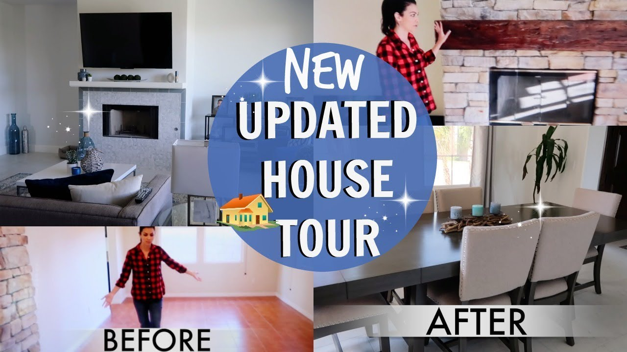 UPDATED HOUSE TOUR | PART 1 LIVING ROOM & DINING ROOM | OUR HOUSE ...