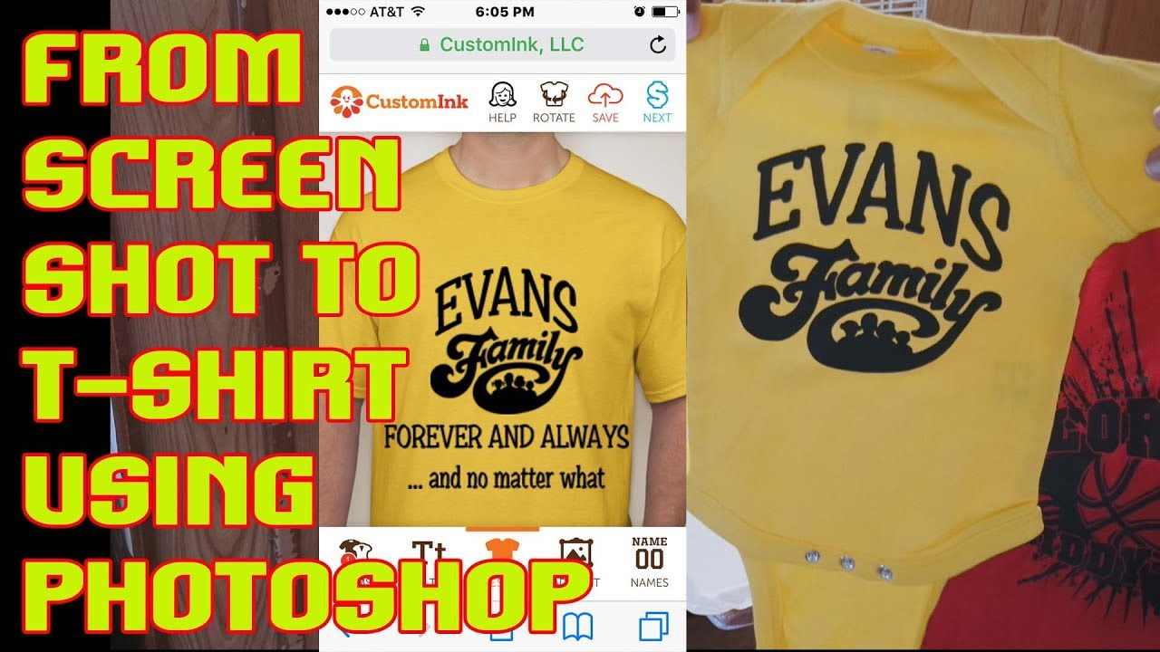 60bc5d0b How to Design a T Shirt from a Custom Ink Mock Up TshirtChick - YouTube