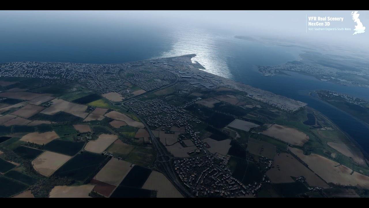 Just Flight - VFR Real Scenery NexGen 3D – Vol  1: Southern