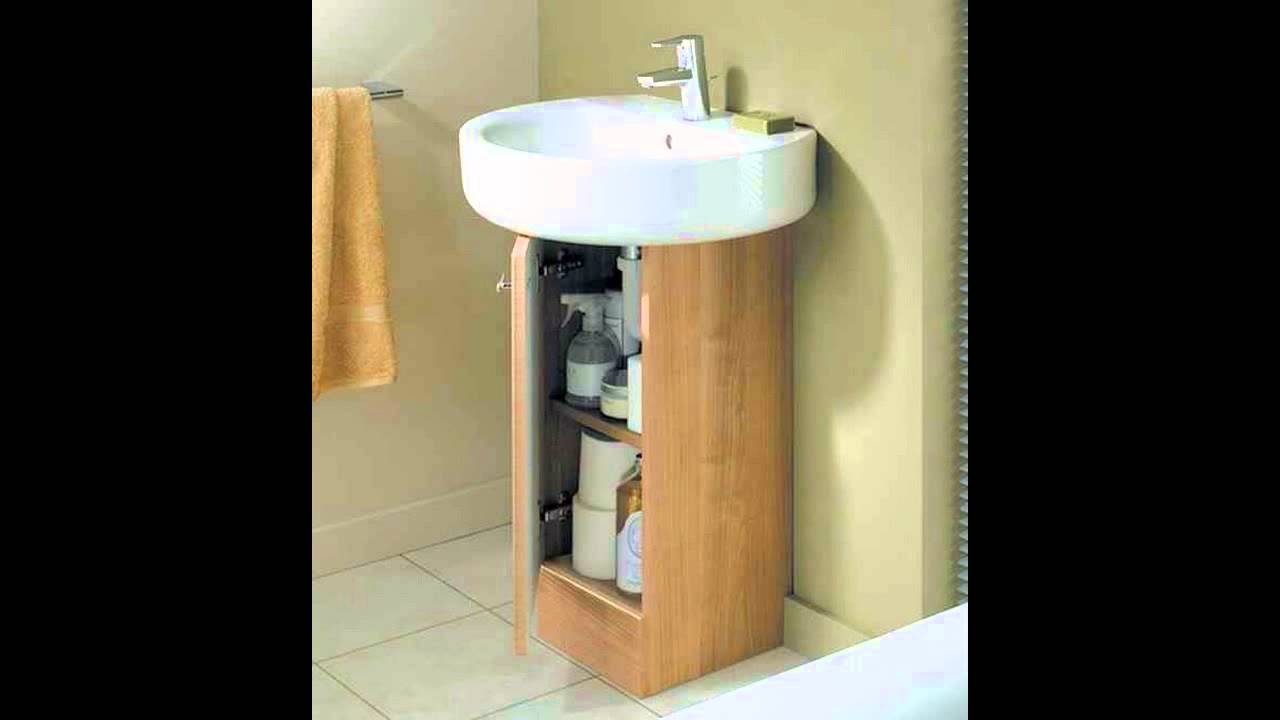 pedestal sink with cabinet