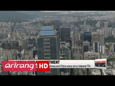 Foreign direct investment between Korea and China soars