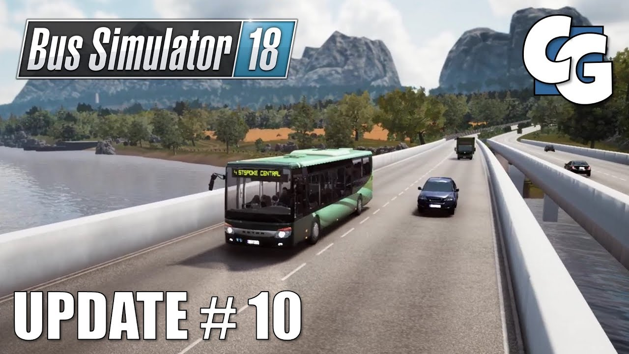 Bus Simulator 18 Official Map Extension Dlc Airport Route Youtube