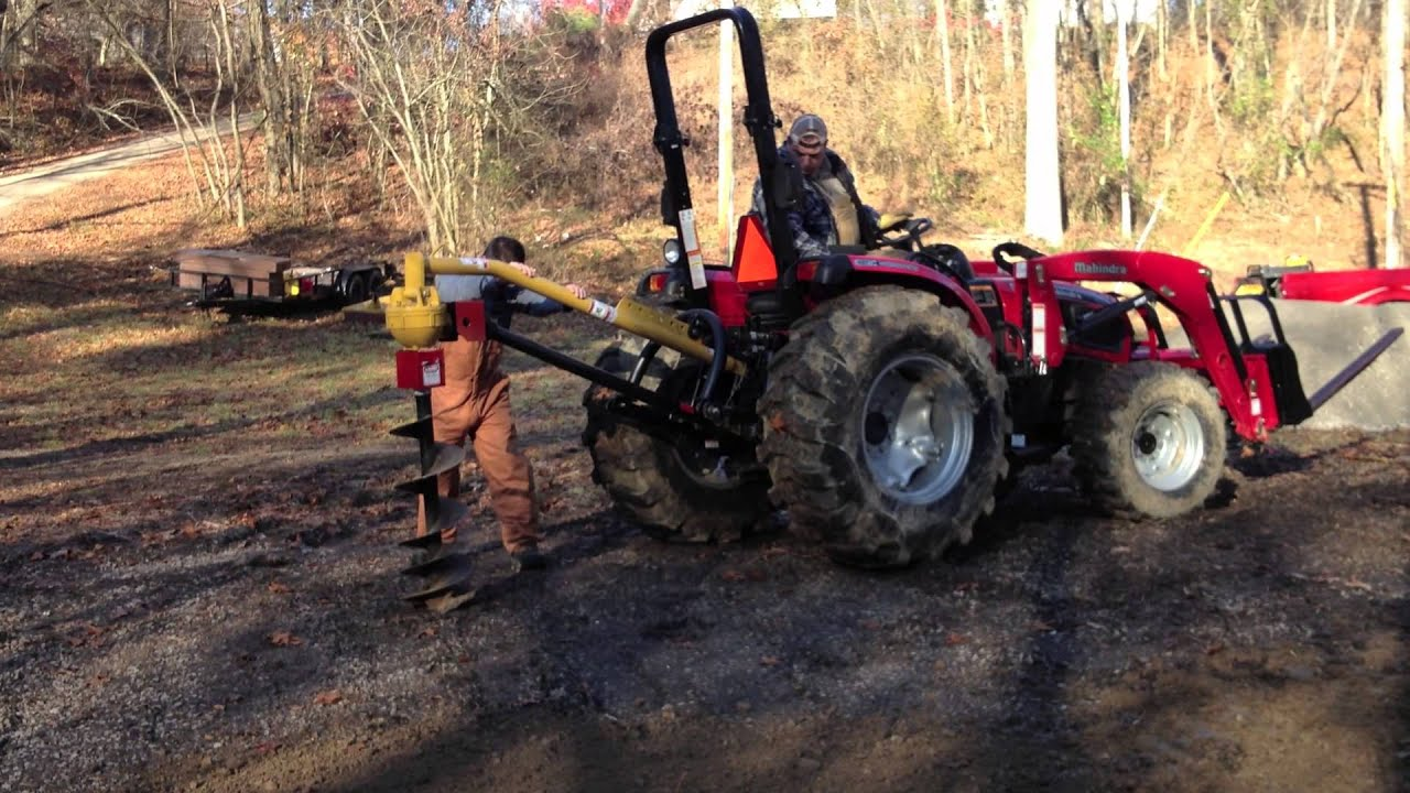 The Tractors Antique Tractor Shed : Tractor shed day digging holes youtube