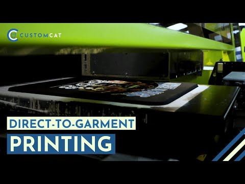 Direct-to-Garment (DTG) Custom Apparel Printing - Unmatched Machines -  CustomCat Print-on-Demand