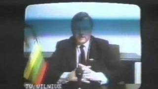 Friday the Thirteenth January 1991 Lithuania Independence Movement. (English caps)
