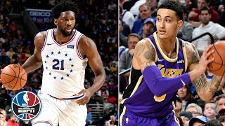 Joel Embiid, 76ers outshine Kyle Kuzma, Lakers in blowout win | NBA Highlights