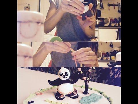 Торт из мастики Кунг фу панда. Пошагово.