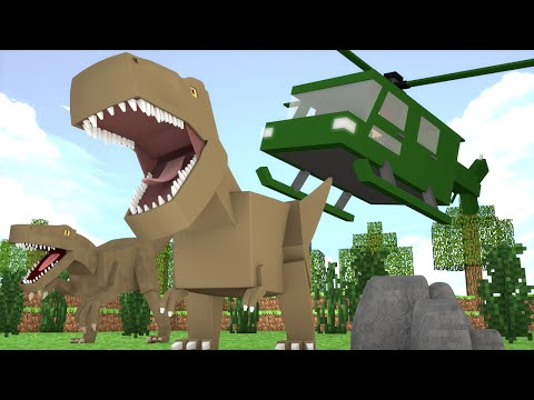 Minecraft : RESGATE DO DINOSSAURO PERDIDO !! - ARK CRAFT SURVIVAL #30