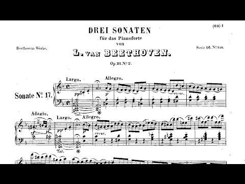 L V Beethoven: Sonata nº 17 «Tempest», Op 31 nº 2 1802