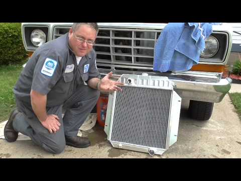 Radiator Replacement on a 1978 Ford F-100 - YouTube
