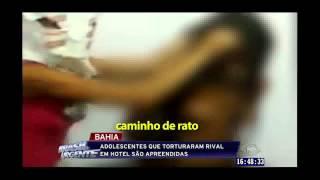 Brasil Urgente - Menina de 14 Anos é Torturada por Amigas na Fazenda Grande