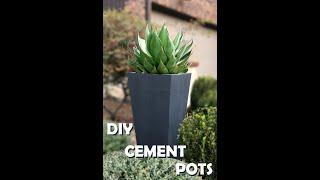 How To Make A Cement Flower Pot | DIY Flower Pot