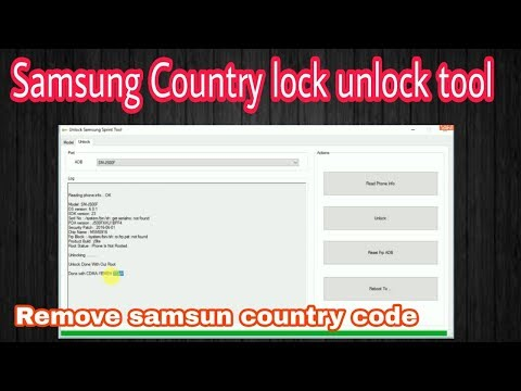 Remove Samsung Country Code | Samsung Sprint Country Unlock Tool