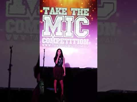 Janelle Aquino performs at New Globe Theater,  Brisbane on The Take The Mic Competition!