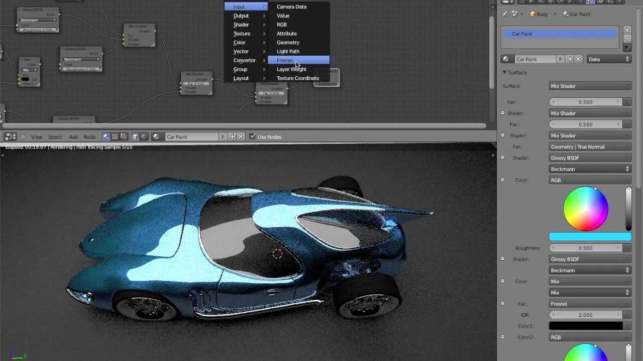 Car Paint Texture Blender