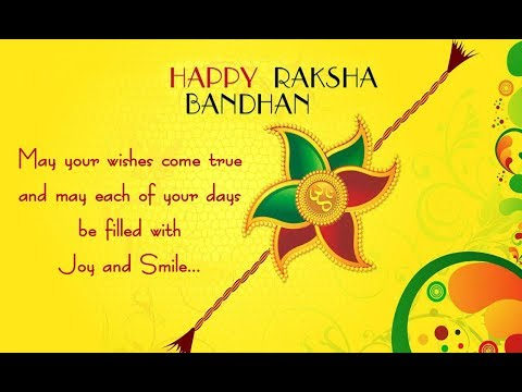 Happy Raksha Bandhan wishes to Brother and Sister, SMS Message, Greetings, Whatsapp Video - 2017